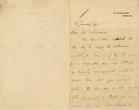 Letter from Edward Dent to Michel-Dmitri Calvocoressi, January 25, 1913