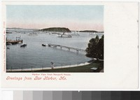 Harbor view from Newport House, Bar Harbor, Maine, 1901-1907