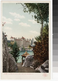 Mohonk Mountain House and Lake Mohonk, New Paltz, New York, 1906
