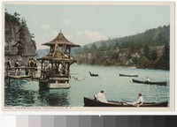 Swimmers in Lake Mohonk, New Paltz, New York, 1915-1930