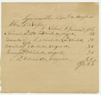 Notes requesting goods on account, 1848-1871