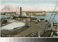 View from Navy Yard, Portsmouth, Virginia, 1907-1909