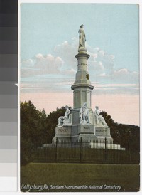 Soldiers Monument in National Cemetery, Gettysburg, Pennsylvania, 1907-1914