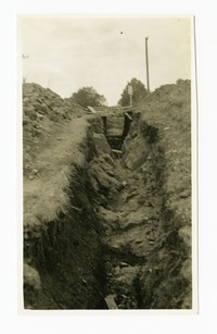 Rockville sewer, rock excavation, Rockville, Maryland, May 28, 1936
