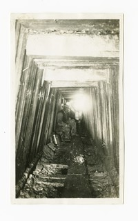 Tunnel under Pennsylvania Railroad for sewer, Baltimore, Maryland, January 15, 1936