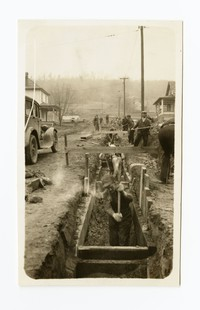 Eight inch T.C. sewer on Warren Street, Cumberland, Allegany County, Maryland, April 13, 1936