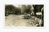 Covering concrete curb to protect from weather, Funkstown, Washington County, Maryland, May 12, 1936