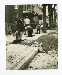 Digging trench for conduit, Baltimore, Maryland, circa November 1935