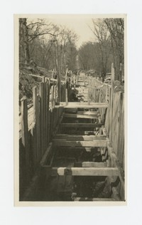 Stormwater drain, Park Heights Avenue, Baltimore, Maryland, April 14, 1936