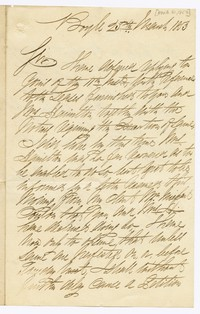 John Hamilton, husband of Barbara Waldron, correspondence, March 20, 1853 - 1870