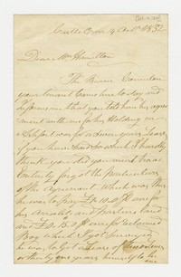 Barbara (Waldron) Hamilton -- Correspondence, October 14, 1832 - September 5, 1899