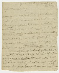 Michael Waldron correspondence, August 19, 1825