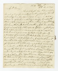 Thomas Waldron, correspondence, March 28, 1840
