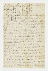 Margaret (Maggie) and Hubert J. K. Waldron, correspondence, March 23, 1857- September 2,1858