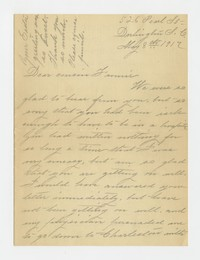 Leslie Charles -- to Fannie Gray, 1917-1918