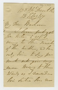Barbara Waldron correspondence, February 13-28, 1847