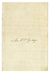 Jane Hughes Charles to Charles T. Gray, 1854