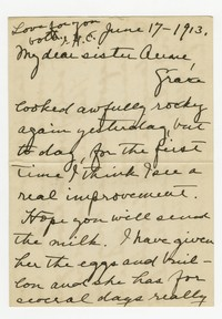 Isabel Claude -- to Anne Claude Howard, 1913