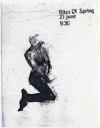 Rites Of Spring concert flier, 9:30 Club, Washington, D.C. - June 21, 1985