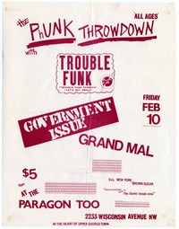 Trouble Funk - Washington, D.C. – Paragon Too, February 10, 1984