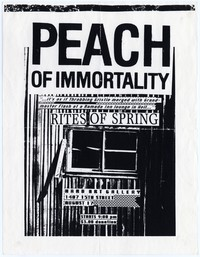 Peach Of Immortality concert flier, Hard Art Gallery, Washington, D.C. - August 17, 1984