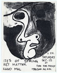Rites of Spring concert flier, Food For Thought, Washington, D.C. - December 15, 1984
