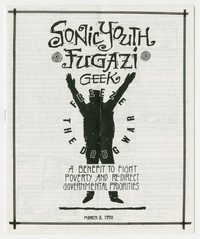 Fugazi and Sonic Youth concert flier booklet, Washington, D.C., March 8, 1990