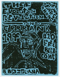 Thee Evolution Revolution and Crank concert flier, BBQ Iguana, Washington, D.C., January 1, 1990