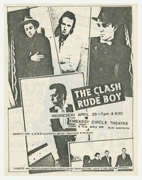 "The Clash in ""Rude Boy"" flier, Washington, D.C., April 29, 1980"