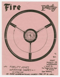 Fire Party concert flier, First Congregational Church, Washington, D.C., March 23, 1990