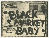 Advertising flier for Black Market Baby concert - The Bayou, Washington, D.C., September 22, 1980