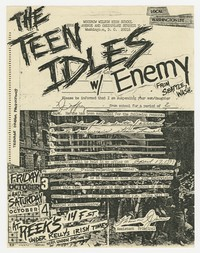 Teen Idles concert flier - Reek's, Washington, D.C., October 3-4, 1980