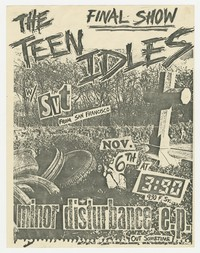Teen Idles final show flier, Washington, D.C., November 6, 1980