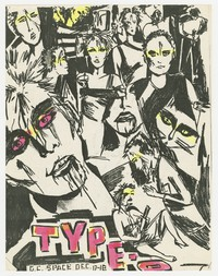 Type-O concert flier - dc Space, Washington, D.C., December 17-18, 1980