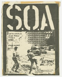 State of Alert (S.O.A.), Untouchables, Minor Threat, Type-O concert flier, Washington, D.C., December 17-18, 1980