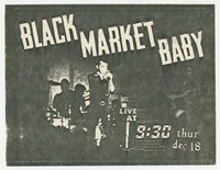Black Market Baby concert flier - 9:30 Club, Washington, D.C., December 18, 1980