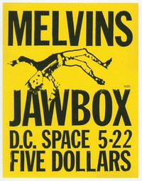 Melvins and Jawbox concert flier, d.c. Space, Washington, D.C., May 22, 1990