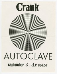 Crank and Autoclave concert flier at d.c. space in Washington, D.C. September 3, 1990