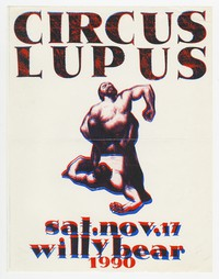 Circus Lupus concert flier, d.c. Space, Washington, D.C., November 17, 1990