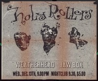 Holy Rollers, Jawbox and Weatherhead concert poster, 9:30 Club, Washington D.C., December 13, 1989