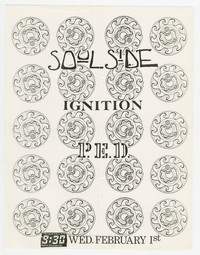 Soulside and Ignition concert flier, 9:30 Club, Washington, D.C., February 1, 1989