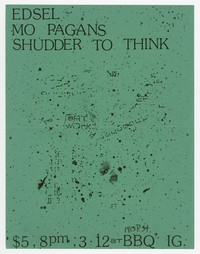 Edsel, Mo Pagans, and Shudder to Think concert flier, BBQ Iguana, Washington, D.C., March 12, 1989
