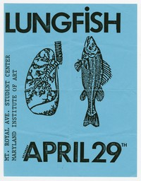 Lungfish concert flier, Maryland Institute of Art, Baltimore, Maryland, April 29, 1989