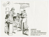 Unrest, The Go Team, and the Juliana Experience concert flier, dc Space, Washington, D.C., September 23, 1989