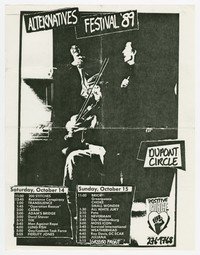 Alternatives Festival flier, Washington, D.C., October 14-15, 1989