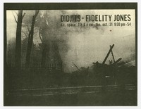 Didjits and Fidelity Jones concert flier, d.c. Space, Washington, D.C., October 31, 1989