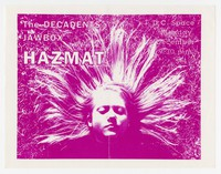 The Decadents, Jawbox and Hazmat concert flier, d.c. Space, Washington, D.C., December 4, 1989