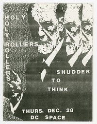Holy Rollers and Shudder to Think concert flier, d.c. Space, Washington, D.C., December 28, 1989