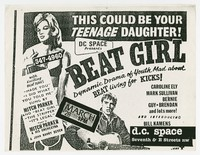 Beat Girl film screening flier, d.c. Space, Washington, D.C., March 28, 1988