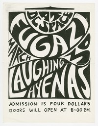 Fugazi and Laughing Hyenas concert flier, d.c. Space, Washington, D.C., March 30, 1988
